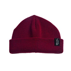 Vegane Beanie | BRICK BEANIES Fir Light Beanie Rumba Red