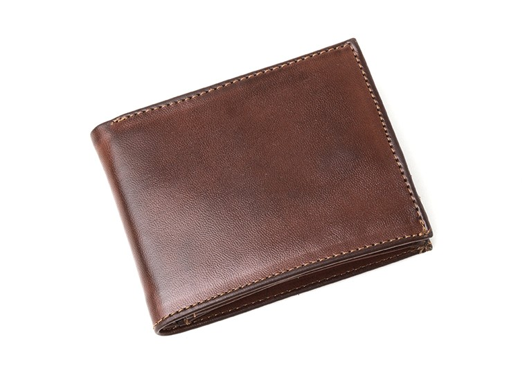 Vegane Geldbörse | AHIMSA Zipped Wallet Cognac