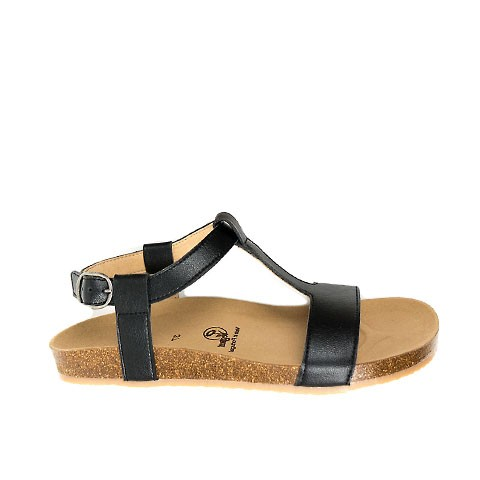 Vegane Sandale | WILL'S VEGAN STORE Footbed Sandal Black