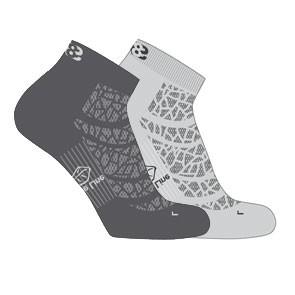 Vegane Socken   LOWA Eightsox Mid Nature Grey/Anthracite