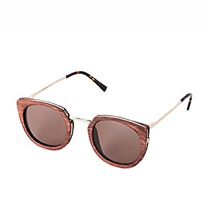 Vegane Sonnenbrille | WAITING FOR THE SUN Belair Oakwood Cognac