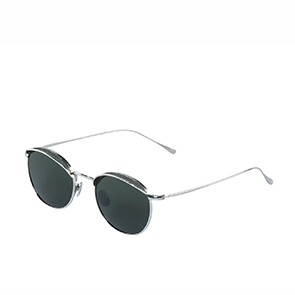 Vegane Sonnenbrille | WAITING FOR THE SUN Mesh Silver Green
