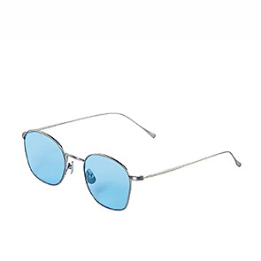 Vegane Sonnenbrille | WAITING FOR THE SUN Simon Silver Blue