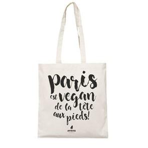 Vegane Tragetasche | AVESU Tote Bag Paris White