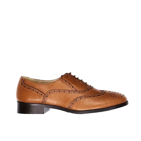 Veganer Damenschuh | WILL'S VEGAN STORE Oxford Brogue Tan
