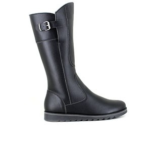 Veganer Damenstiefel | VEGETARIAN SHOES Action Boot 3 Black