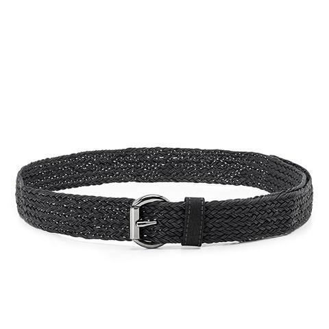 Veganer Gürtel | AHIMSA Braided Belt Black