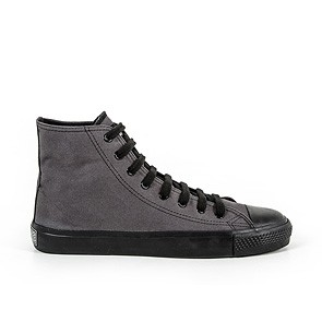 Veganer Sneaker   ETHLETIC Fair Trainer Black Cap Hi Cut Pewter Grey