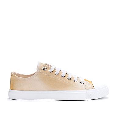 Veganer Sneaker   ETHLETIC Fair Trainer White Cap Lo Cut Golden Shine
