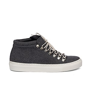 Veganer Sneaker | GRAND STEP SHOES Smilla Felt Dark Grey