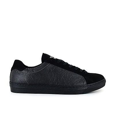 Veganer Sneaker   VEGETARIAN SHOES Chevron Sneaker Pineapple Black