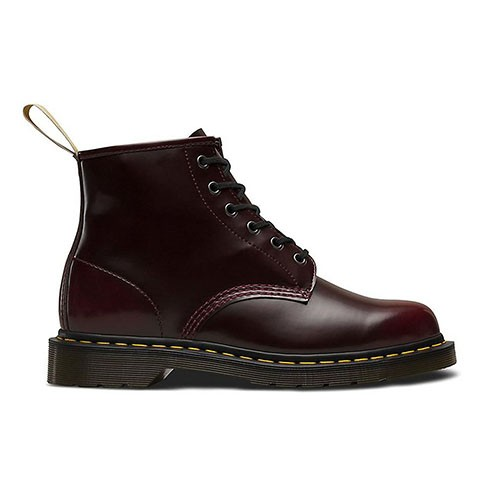 Veganer Stiefel | DR. MARTENS 101 6-Eye Boot Cherry Red Oxford Rub Off