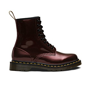 Veganer Stiefel | DR. MARTENS 1460 8-Eye Boot Chrome Paint Oxblood