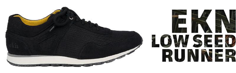 Veganer Sneaker | EKN Low Seed Runner Black
